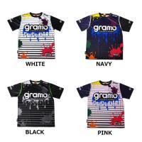 gramoのフル昇華のプラクティスシャツ「splash」  インクが弾け飛んだようなデザインで、 遊...