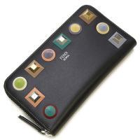 フェンディ FENDI ラウンドファスナー長財布(小銭入れ付き) NERO+MLC+PALLADIO ブラック/プレキシガラススタッズ 8M0299 SR0 F0JBX