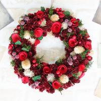 クリスマスリース*ドライの実など自然素材を使った手作りリースです。(一部イミテーション)出来る限り見...