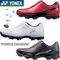 ヨネックス ゴルフシューズ パワークッション メンズ YONEX SHG-022 レッド ホワイト ...