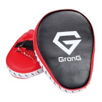 GronG パンチングミット ボクシング ミット 格闘技 ボクササイズ 左右セット 湾曲型