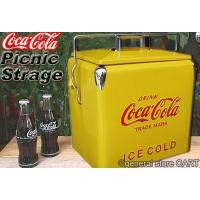 COCA-COLA アメリカンレトロデザインのクーラーボックス。 1950年代(50's)のヴィンテ...