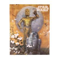 スターウォーズ名コンビ R2-D2とC3POが金屏風をバックにジャポネモダニズムなミニポスター。  ...