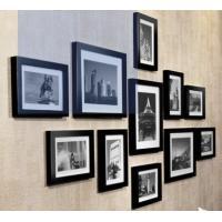 壁掛けウッドフォトフレーム 木製フォトフレーム 11個セット (ブラック) …