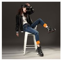 レディースファッション ボトムス ズボン パンツ ジーパン デニム ジンズ 冬 防寒 ふんわり肌触り ゆったり ストリート風 履きやすい ひも