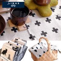 メール便OK 3点まで。 リトアニア生まれの綿麻混紡、(約)47×70cmの大判のキッチンタオルです...
