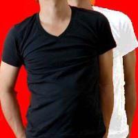 【ウォームビズ対応】発熱保温VネックTシャツ。 ユニクロ【ヒートテック】と同様の、発熱・保温ソフトタ...
