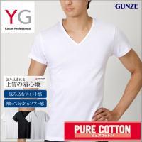 ★送料込み★新YGの定番シリーズ、グンゼ【YG】VネックTシャツ/綿100%、3枚セットです。 本体...