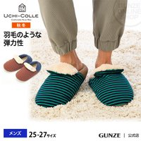 セール 特価 GUNZE(グンゼ)/ウチコレ/ルームシューズ(バブーシュタイプ)(メンズ)/AUJ014/25-27