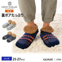 セール 特価 GUNZE(グンゼ)/ウチコレ/ルームシューズ(バブーシュタイプ)(メンズ)/AUJ204/25-27