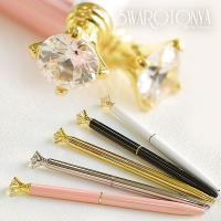 スワロフスキー ダイアモンド ボールペン 3カラット ダイアモンドボールペン クリスタル