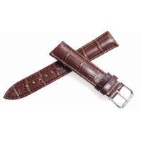 腕時計 16mm 用のレザーベルト。 バンドカラーはダークブラウン、バックルは一般的なピンインバック...