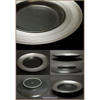 ディモーダ ブラック/プラチナ スープパスタ皿 28cm シルバー キャッシュレス 還元|hana2|03