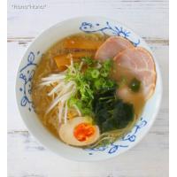 藍染花模様 ラーメン どんぶり 丼 18.5cm (軽量) 波佐見焼 キャッシュレス 還元|hana2|02
