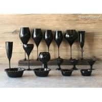 カラーズ/ブラック アモーレハート シャンパングラス 160ml ガラス漆加工 // おしゃれ|hana2|05