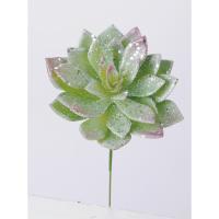 造花 MAGIQ 東京堂  アイスエケベリア GREEN  FX001669 01   造花葉物、フェイクグリーン 多肉植物