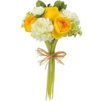 即日  造花 YDM ラナンキュラスブーケM イエロー ホワイト FBC8026-Y W 00   造花 花材「ら行」 ラナンキュラス