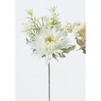 即日  造花 アスカ ミニガーベラミックスピック ホワイト A-31570-1 00   造花 花材「か行」 ガーベラ