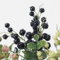 即日  造花 アスカ ベリーピック パープル A-47602-7 00   造花実物、フェイクフルーツ ベリー