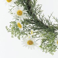 即日  造花 アスカ デージーリース ホワイト A-32213-1 00   造花 花材「た行」 デージー