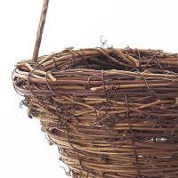 造花 アスカ バスケット L  ブラウン A-10626-28 01  6個  造花葉物、フェイクグリーン 苔、モス