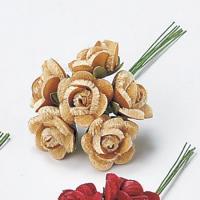 造花 アスカ ベルベットミニローズ 1束6本  1袋6束入  ライトモカ A-15371-78L|造花 バラ 01  4袋  造花 花材 は行  バラ