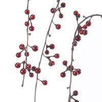 造花 アスカハンギングベリースプレー #002 レッドA-4768801 造花実物、フェイクフルーツ ベリー