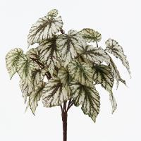 造花 アスカ レックスベゴニアブッシュ フロストグリ−ンブラウン A-42217-052F 01   造花葉物 ベゴニア
