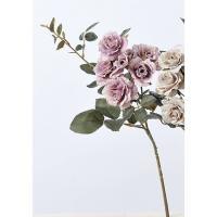 即日造花アスカローズ×5 ツボミ×2 ラベンダ-A-39653-6|造花 バラ00 造花 花材「は行」 バラ