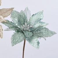 造花 アスカ ポインセチアピック ミント AX68805-051M 01   造花 花材「は行」 ポインセチア