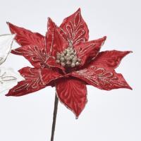造花 アスカ ポインセチアピック レッド AX68808-002 01   造花 花材「は行」 ポインセチア