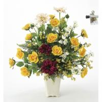 直送  人工観葉植物 光の楽園 光触媒 パレットロ―ズ 668A120 返品・代引不可 07  日限定  造花ギフト フラワーアレンジ