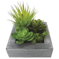 造花 松野ホビー キューブアートグリーン TF-2360 01   造花葉物、フェイクグリーン 多肉植物
