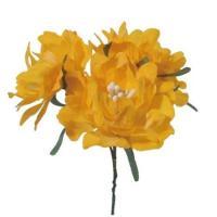 造花 サンセイ DSI-07フィオーレ#11イエロー 1束 台紙 541353 01  3個  造花 花材「な行」 その他「な行」造花花材