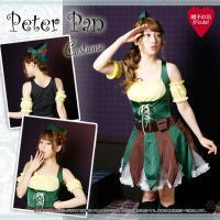 ■商品名 ☆ピーターパンコスプレ衣装☆  ※夢のピーターパンのコスチューム☆ 伸縮性があり、大変着用...