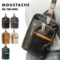 ムスタッシュ MOUSTACHE ボディバッグ メンズ ブラック ネイビー キャメル ベージュ A4対応 YVQ-5998