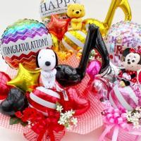 祝電 電報 結婚式 スヌーピー ディズニー ミニー プーさん ミニオン お誕生日 開店祝 バルーン ギフト 造花 フラワー