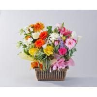 送料無料 お祝い 2in1バスケット 造花アレンジメン 16000円 開店祝い、イベント、発表会、講演会、ギフト、ビジネス