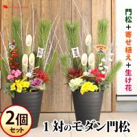 毎年人気!当店特製のお正月用寄せ植え門松♪ 門松は歳神様を迎え入れる目印。福を招き入れましょう。 お...