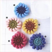 立体的なコイル編みのモチーフを繋いで作る円座。 カラフルに作るとお花畑のよう。   ◆サイズ◆  た...