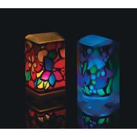 制作時間:3〜4時間  幻想的な発光を楽しめるランプ作り工作キットです。 セットされている黒画用紙を...