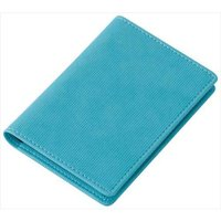 カラー:ブルー 本体サイズ(約):横75×縦105×厚15mm 重量(約):61g 素材:[表地]合...
