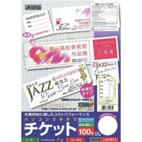 カラー:(チケット用紙)ホワイト 本体サイズ(約):A4判(21×29.7cm) パッケージサイズ(...