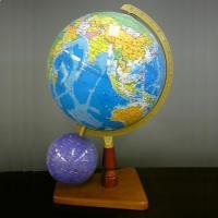 カラー:[球]ブルー主体、[弓]ゴールド、[台座]ブラウン 本体サイズ(約):幅30cm×奥26cm...
