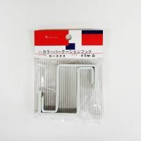 カラー:白 本体サイズ(約):幅16×奥60.2×高61mm、板厚3mm フックサイズ(約):15....