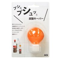 カラー:オレンジ 本体サイズ(約):幅5×奥4.5×高7cm 適応サイズ:炭酸飲料用ペットボトル 素...