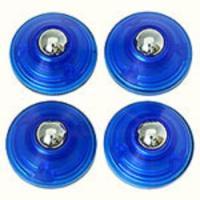 カラー:ブルー サイズ(約):[1個]径18×高9mm 入り数:4個入 素材:[本体]ABS樹脂、[...