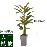 【人工植物】グリーンデコ ヘリコニア 長鉢 2.3m