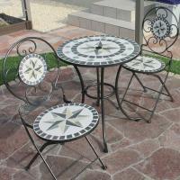 ■サイズ(mm) テーブル:直径600×高さ700mm パラソル穴:直径42mm  チェアー:横幅3...