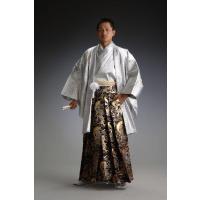 ●ポリエステル60% レーヨン40% 日本の伝統的な正装,羽織袴(はおり&きもの、はかま)。...
